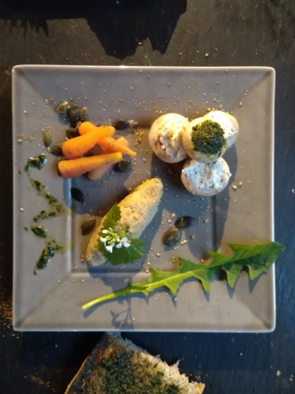 Tapas de plantes comestibles